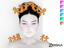 Zibska ~ Catchme Colorchange Gingerbread Cookie Headpiece and Shoulders