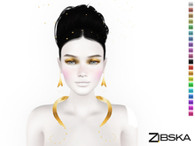Zibska [50L Closeout] ~ Clementine Color Change Collar, Earrings and Orbit
