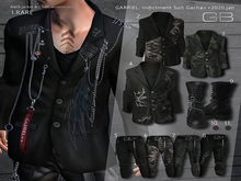 8.::GB::Long belt chain pants/ Graffiti Geralt