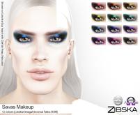 Zibska ~ Savvas Makeup in 12 colors with Lelutka, Omega and Universal Tattoo BOM layers