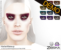 Zibska ~ Harlan Makeup Demos [lelutka/omega/universal tattoo BOM]