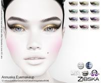 Zibska ~ Annuska Eyemakeup in 12 colors with Lelutka, Genus, LAQ, Catwa and Omega appliers and Universal Tattoo/BOM laye