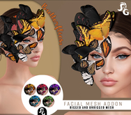 ::SG:: Butterflies Face Attachment  RIGGED/UNRIGGED