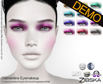 Zibska ~ Clementine Eyemakeup Demos [lelutka/genus/laq/catwa/omega/universal tattoo/BOM layer]