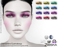 Zibska ~ Clementine Eyemakeup in 12 colors with Lelutka, Genus, LAQ, Catwa and Omega appliers and Universal Tattoo/BOM l