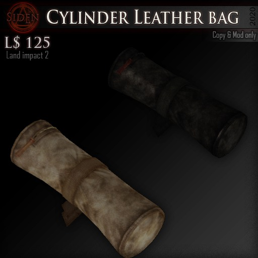 (Box) Cylinder Leather bag