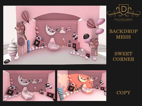 {DC} Backdrop Sweet Corner Mesh
