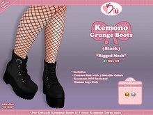 *>Kiu<* - Kemono Grunge Boots_Black