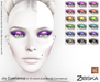Zibska ~ Joy Eyemakeup in 18 colors for Lelutka HD