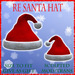RE Santa Hat- Red w/White Fur - On Sale! Sculpted/Christmas