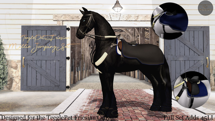 Cheval D'or - TeeglePet Friesian - Millie Jumping Set.