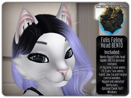 .:C:. Felis Bento Head - Mesh bento cat head!