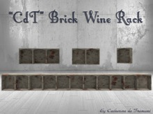 """CdT"" Brick Wine Rack"