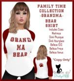 {BL}FTC-GrandMa Bear Shirt-Womens