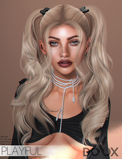 DOUX - Playful hairstyle [BLOGGER PACK]