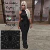 Kira Couture BEATRICE black perle