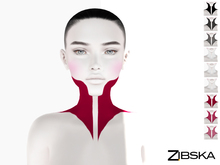 Zibska ~ Guise Tattoo in 3 colors in 3 transparencies with Omega appliers and Universal Tattoo/BOM layers