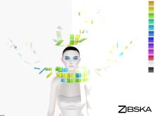 Zibska ~ Aniko Color Change Headpiece and Collar