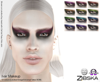 Zibska ~ Ivar Makeup in 12 colors with Lelutka, Omega and Universal Tattoo BOM layers