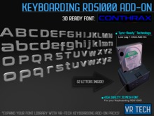VR-TECH Conthrax Font ADD-ON For Keyboarding RD51000!