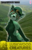 Luskwood Shamrock St Patrick's Wah Furry Avatar - Female - tagStPatricksDay