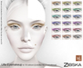 Zibska ~ Ulfa Eyemakeup in 18 colors for Lelutka HD