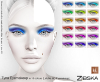 Zibska ~ Tyna Eyemakeup in 18 colors for Lelutka HD