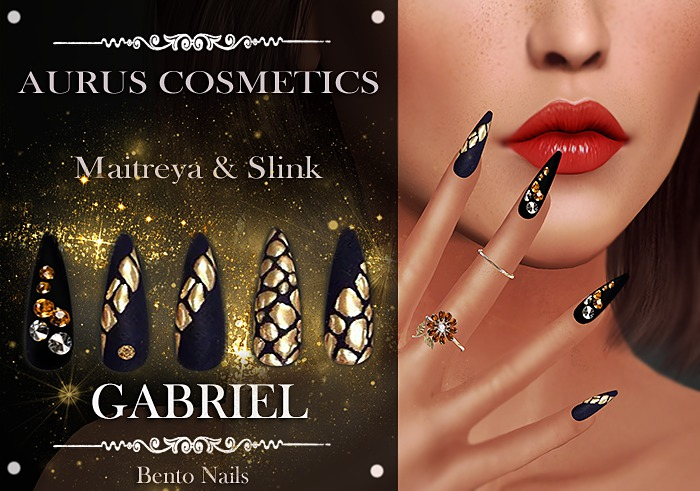 A U R U S - GABRIEL Bento Nails -Maitreya & Slink