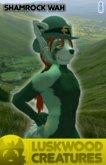 Luskwood Shamrock St Patrick's Wah Furry Avatar - Male - tagStPatricksDay