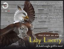 WEAR ME -. Jomo Griffin Mod_female bald eagle