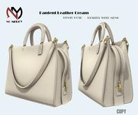 No Mercy / Pantent Leather  Bag Cream