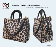 No Mercy / Pantent Leather Bag Yellow Leopard