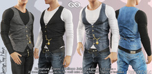 JAXTYN MALE FATPACK TOP WITH VEST, MESH - SIGNATURE GIANNI, LEGACY, BELLEZA JAKE - FashionNatic