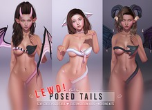 LEWD! Tail DEMOs by Sweet Thing. [SOLD SEPARATELY] Sexy static posed demon, neko, and heart spade tails! for Maitreya