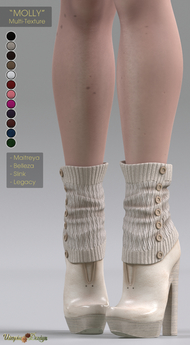 "**UTOPIA@Design** - ""MOLLY"" - Multi-Texture - Maitreya, Slink, Belleza, Legacy"