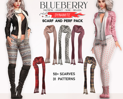 Blueberry - Dynamite - Scarf and Perf - Fat Pack