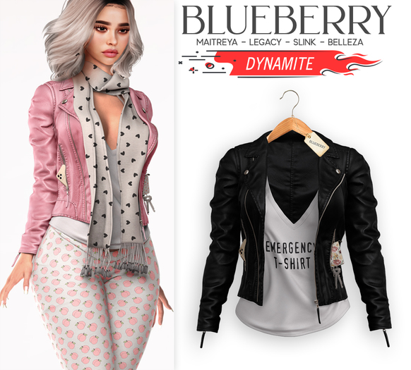 Blueberry - Dynamite - Jackets with Pockets - Black