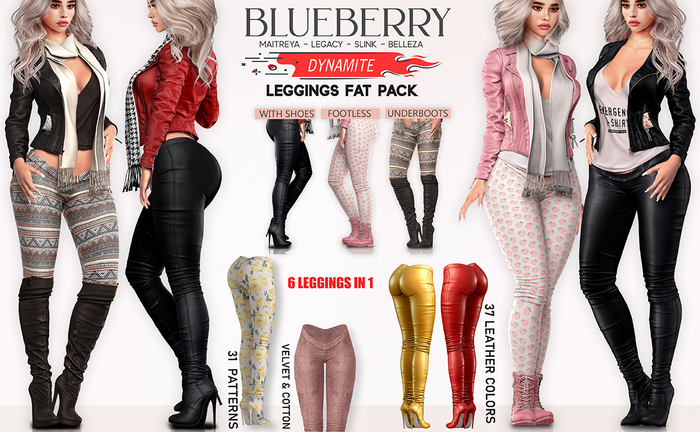 Blueberry - Dynamite - Leggings On Steroids - DEMO