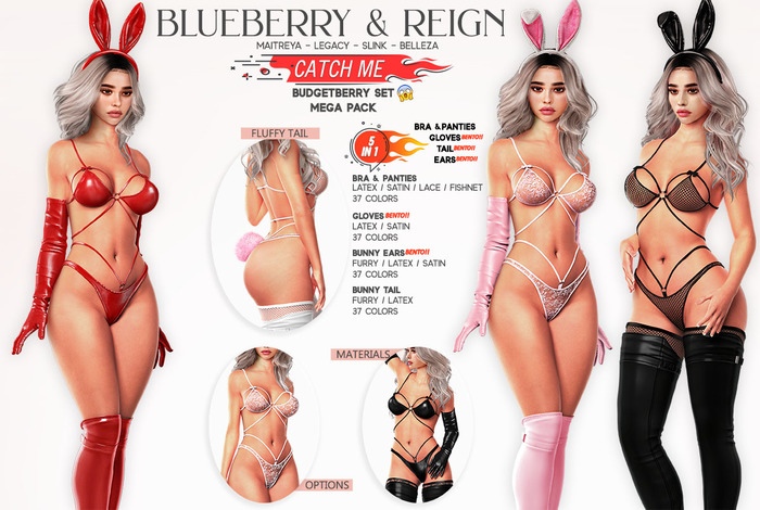 Blueberry - Catch Me - Budgetberry - Bunny Set - Mega Pack