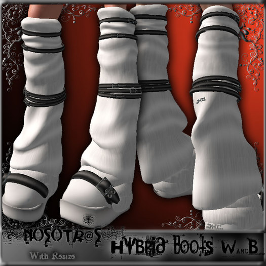 .::NOSOTR@S::. Hybrid Boots {W&B}