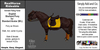 *E* RealHorse Animesh Rideable Horse - Shetland  Pony English [Add & Click] M/L