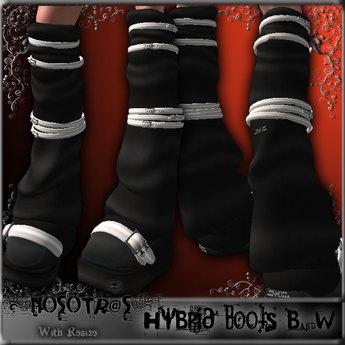 .::NOSOTR@S::. Hybrid Boots {B&W}