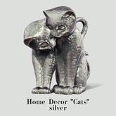 "Amataria - Home Decor ""Cats"" - silver"