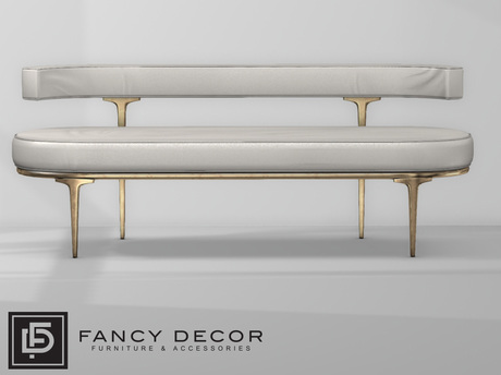 Fancy Decor: Capsule Sofa - White Leather (pg)