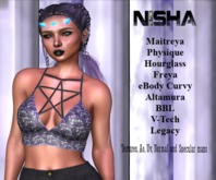 Nisha - Pentagram cropped top full perm