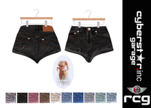 DERANGED-High Cut Jeans Shorts - Legacy Only