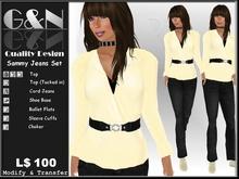 G&N Quality Design Sammy Cord Jeans Set