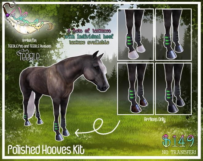 Teegle Horse/TeeglePet - Polished Hooves Kit