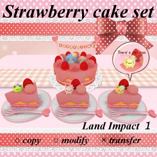 Strawberry cake set