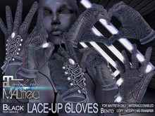 MALified: Lace-Up Gloves (Black): Maitreya Only